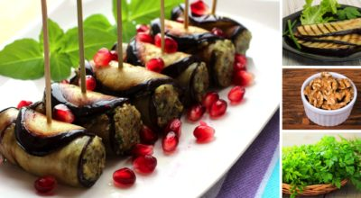 Готовим баклажаны вкусно: рулетики с орехами