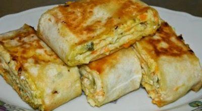 Хрустящая закуска из лаваша