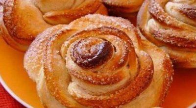 Вкусное и красивое лакомство для маленьких и больших сладкоежек! Детские творожные булочки «Розочки»