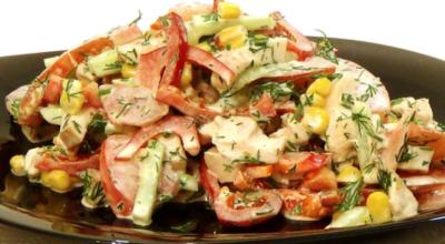 Идеально для летнего вечера: Салат «Парижель»