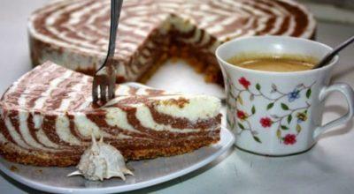 Красивый и вкусный творожный торт без выпечки