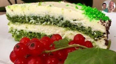 Торт Изумруд со шпинатом