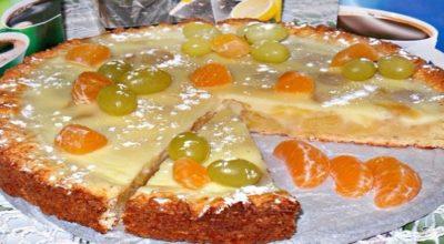 Заливной, творожно яблочно-виноградный пирог получается очень-очень вкусный, с нежной начинкой
