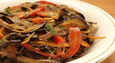 Салат из баклажанов без майонеза