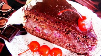 Божественный торт «Пьяная вишня в шоколаде»: невероятное наслаждение