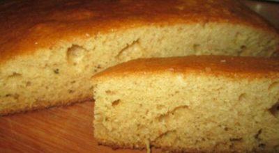 Нежный бисквит на кефире без яиц