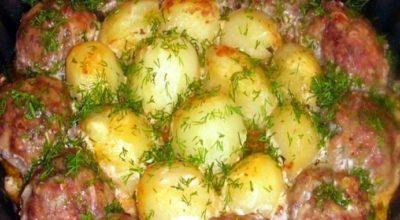 Очень сытная запеканка из картофеля и фарша