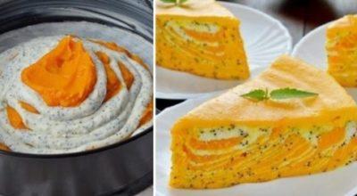 Самый актуальный осенний десерт: нежная творожная запеканка с тыквой. Еще и полезно!