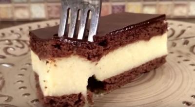Торт «Птичье молоко» за 15 минут! Без выпечки