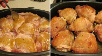 Курица в медовом соусе. Такой вкусной курица еще не была!