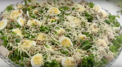 Потрясающий салат «Гусарский» к праздничному столу (без майонеза)