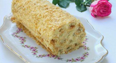 Торт «Полено». Готовится проще некуда, а по вкусу не отличить от «Наполеона»!