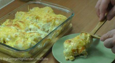 Аппетитнейшая запеканка из цветной капусты. Так заманчиво и просто, что хочется бежать на кухню и готовить!