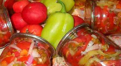 Салат из помидоров на зиму «Пальчики оближешь»