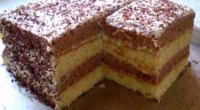 Торт Сметанник — Очень вкусный и нежный торт, простой в приготовлении