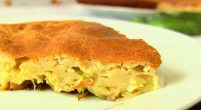 Ленивый пирог с капустой на кефире