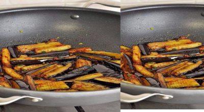Баклажаны в остром чесночном соусе, по-китайски