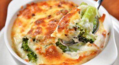 Нежная сырная запеканка с брокколи