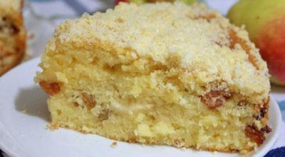 Обалденный яблочный пирог. Съели до последней крошки!