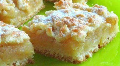 Вкусный пирог с нежной лимонно-яблочной серединкой