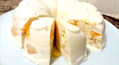 Десерт за пару минут. Торт без выпечки «Снежок»