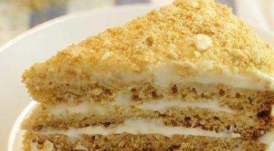 Торт «Медовик» за 15 минут