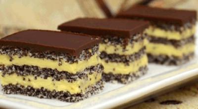 Торт с маком и ванильным кремом. Вкуснейшее сочетание