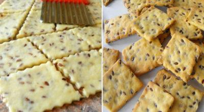 Галетное печенье с семенами льна: вкусное, хрустящее, низкокалорийное!
