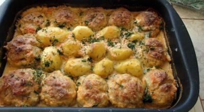 Замечательный обед в духовке: просто и вкусно