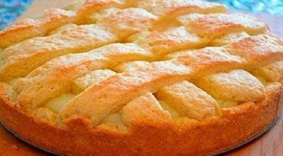 Ароматный пирог с кремом, с которым ты забудешь про шарлотку