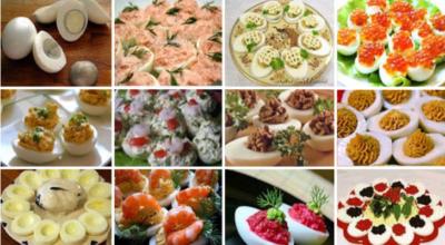 Большое разнообразие фаршированных яиц. 26 вариантов для начинки