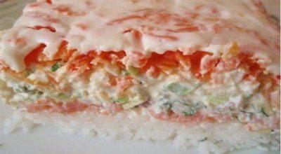 Для любитeлей Cуши. Для кaждой xозяйки это салат станет удивительной находкой