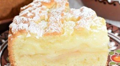 Нежный пирог с яблоками. Легкая начинка и рассыпчатое тесто