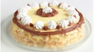 ТОРТ «ПОЛЕТ» по ГОСТУ: Торт-Безе с масляным кремом