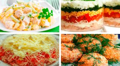 Четыре рецепта вкусных и быстрых салатов