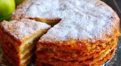 Мой любимый Насыпной яблочный пирог «Три стакана»