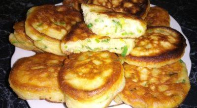 Оладьи с яйцами и зеленым луком: вкусно и просто