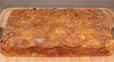 Самый классный яблочный пирог: много яблок и мало теста