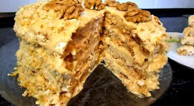 Самый вкусный «Киевский» торт с безе и орехами