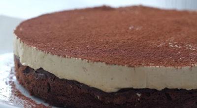 Шоколадный торт с кофейным суфле. Без муки