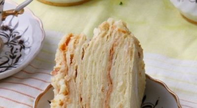 Торт «наполеон» с пломбиром