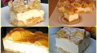 Заварной пирог «Карпатка». Очень популярен в Польше