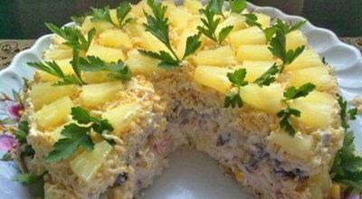 Бесподобно вкусный салатный торт «Чародейка»
