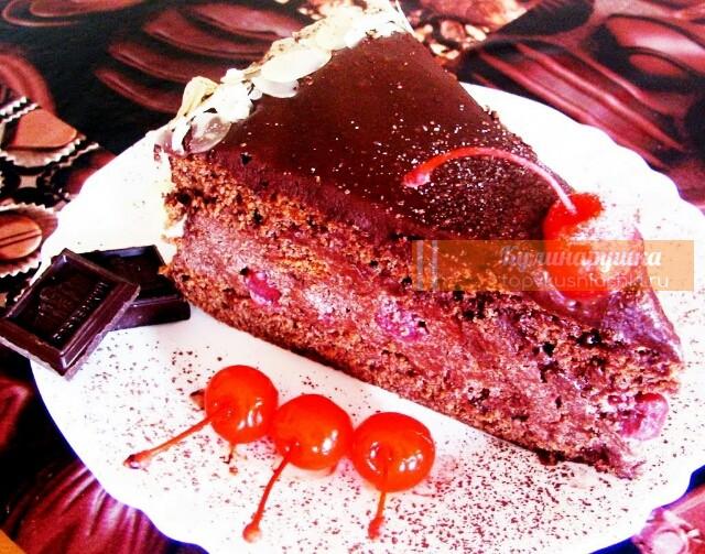 """Божественный торт """"Пьяная вишня в шоколаде"""": невероятное наслаждение"""
