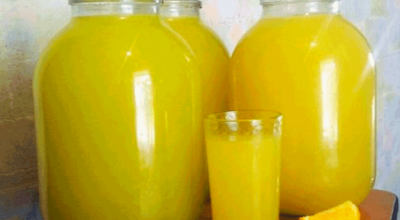 Как всего из 4 апельсинов сделать 9 литров сока