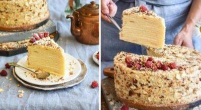 Как приготовить торт с творожными коржами