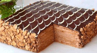 Обалденный торт Наполеон Шоколадно-сливочный