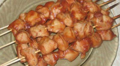 Обалденный шашлык из курицы в духовке