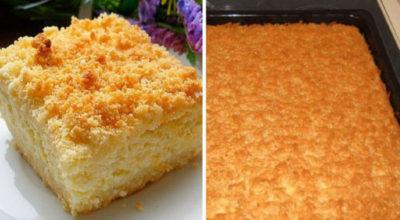 Тертый пирог с творогом — вкуснейшая выпечка