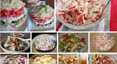 Десять салатов с помидорами: лучшая подборка